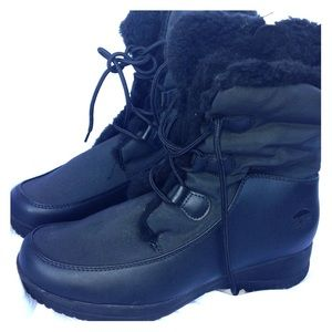 Totes Corrinne Black Winter Boots Size 9 Med